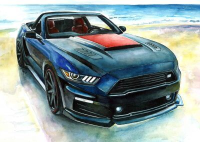 Order muscle car drawings Ford Mustang