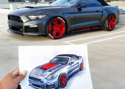 Order Ford mustang paintings Los Angeles
