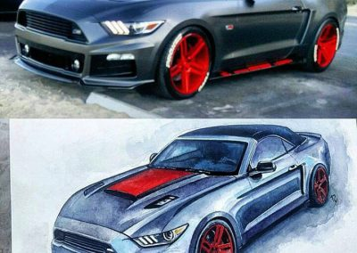 Order muscle car paintings online