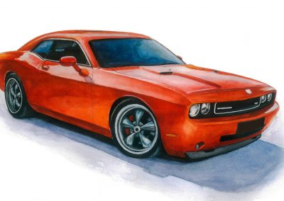 Dodge Challenger sports car art
