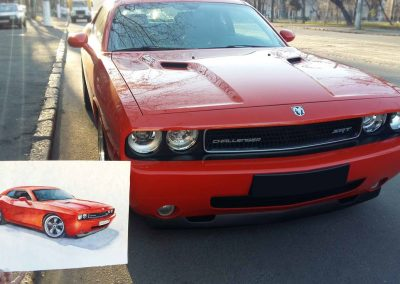 Automobile art Dodge Challenger