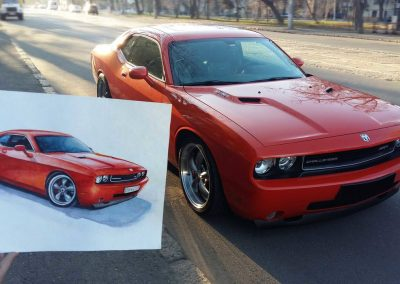 Dodge Challenger order unique paintings of the car