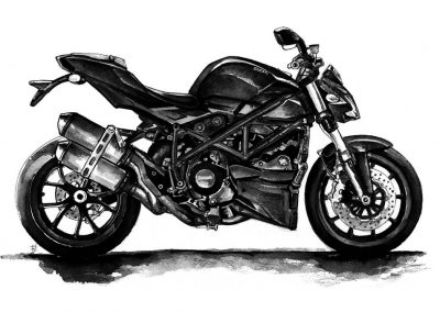 Ducati art watercolor