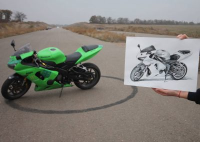 Kawasaki motorcycle art