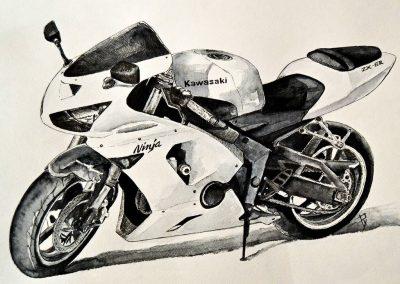 Kawasaki Ninja motorcycle art
