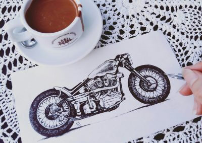 Motorcycle arts and coffee