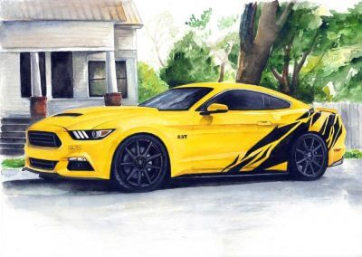 Muscle car drawings order