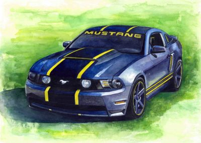 Ford Mustang automotive paintings