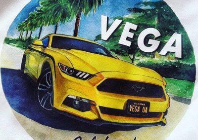 Mustang Vega and american auto art