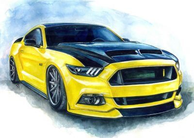 Ford Mustang hand paintings