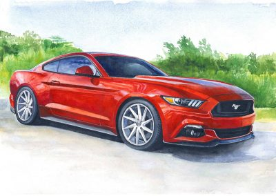 Sport car drawing Rufina artist