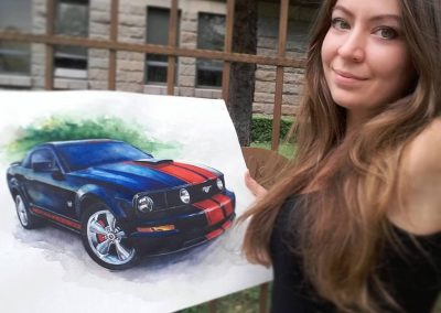 Muscle car paintings
