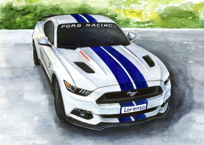 Art automotive Mustang Shelby from San Marino