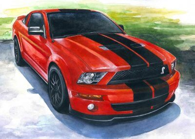 Order automotive art Ford Mustang in USA