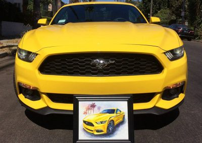 Vega Yellow Mustang Ecoboost paintings