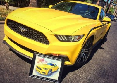 Mustang Vega Yellow Mustang Los Angeles