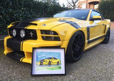 Race car paintings: Ford Mustang from Italy