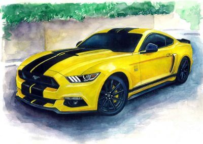 Drawing muscle cars order