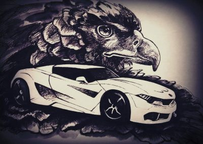 Order automotive art paintings