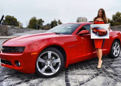 Camaro automotive art with Rufina Liumanova