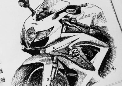 Order pencil motorcycle artwork