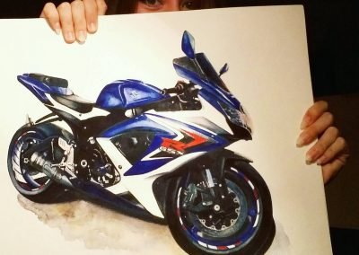 Motorcycle and car artist