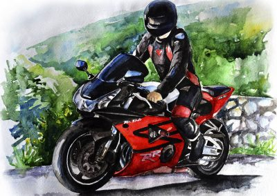 Motorcycle real art paintings